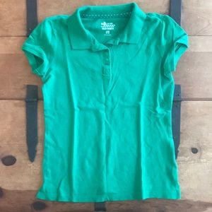 Old Navy Girls Size Large (10-12) Green Polo Shirt